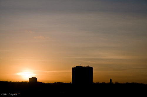 Sunset over Antwerp (Berchem)