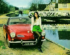 Dear Santa....... (Lawrence Peregrine-Trousers) Tags: england woman girl vw volkswagen three canal pub pretty britain lock union grand end bourne british horseshoes swingbridge hertfordshire winkworth karmannghia herts ffffffffff