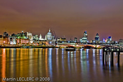 the city by night (MLC_PHOTO) Tags: uk london thames architecture britain londonbynight thecity stpaul londres saintpaul riverbank thamesriver oxo oxotower citybynight thecitybynight