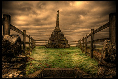"""'Maggie Wall burnt here 1657 as a Witch"" (Alan Weir) Tags: grave mystery cross witch druid witchcraft pagen wiccan newage dunning wiccar"