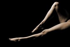 Legs and shadows (asdisyr) Tags: bw woman feet sepia canon studio naked nude iceland toes shadows legs 40d asdisyr