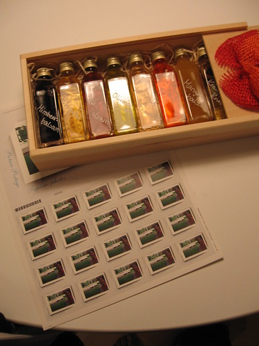 German vinegars from Audrey and stamps from my mom. The stamps have a picture of me on them!