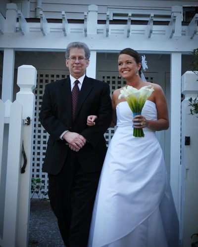 Daddy and I about to make that crazy walk down the aisle.
