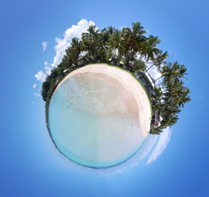 Jane's in Manase, Samoa Tiny Planet