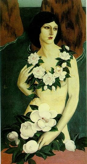 Agnès Tait, Woman with Flowers by the Sea