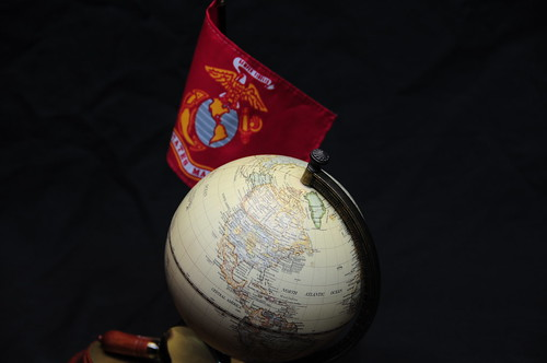 Marine Flag and globe