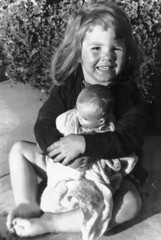 Little girl with Ruthie doll, 1955 (ozfan22) Tags: doll 1950s babydoll girlwithdoll ruthiedoll