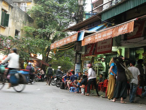 Foreigners' bia hoi junction