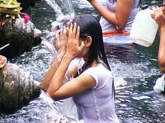 religious bath at Tirtha Empul Tampak Siring