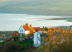 Over the Bay (keithhull) Tags: houses red sea bay village yorkshire roofs explore northsea robinhoodsbay blueribbonwinner abigfave platinumphoto betterthangood theperfectphotographer dragongoldaward absolutelystunningscapes vosplusbellesphotos seeninexplore33200927