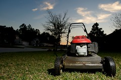Awake from Slumber and RULE the Lawn! - Project365:69 (Thomas Lester Photography) Tags: blue red sky green grass honda spring nikon florida lawn jacksonville mower chores cls saintjohns sb800 project365 project36568 afszoomnikkor2470mmf28ged project36503162009