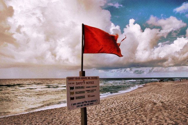 Red Flag Warning -  Some rights reserved by Bob AuBuchon CC-NC-BY-SA