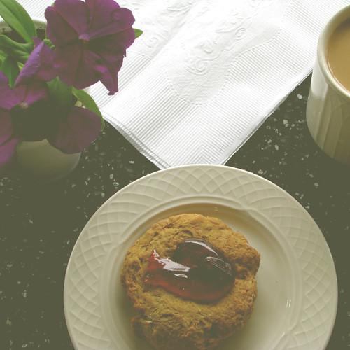 petunias and scones