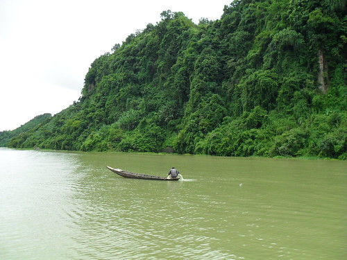 Fisherman on the heart of Kaptai lake