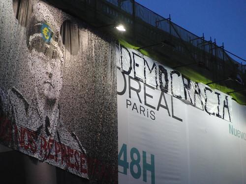 Transformación de la publi de L'Oreal por Democracia Real
