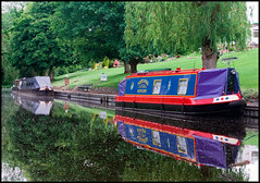 Narrowboats at Cookley (Rob-33) Tags: water reflections canal worcestershire barge narrowboat pentaxkx wetreflections cookley staffsworcscanal