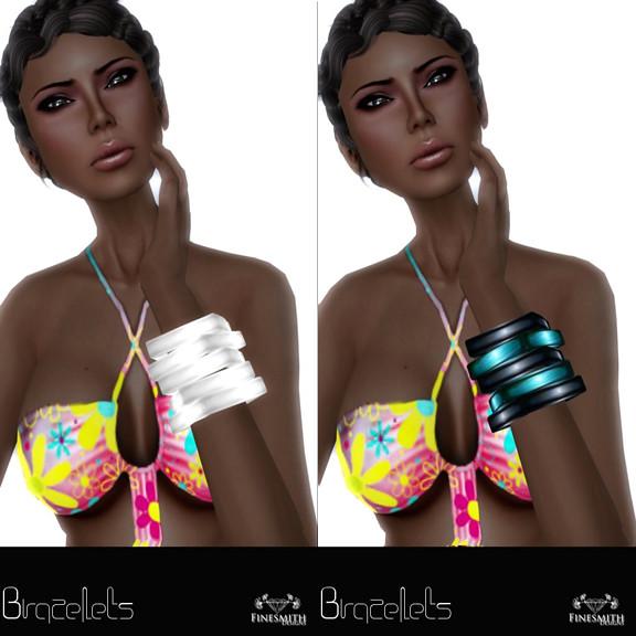 Bracelets Platinum & Blue