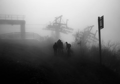 Fog (ceca67) Tags: people bw mountain alps nature fog landscape switzerland nikon mood d90 ceca saariysqualitypictures magicunicornverybest
