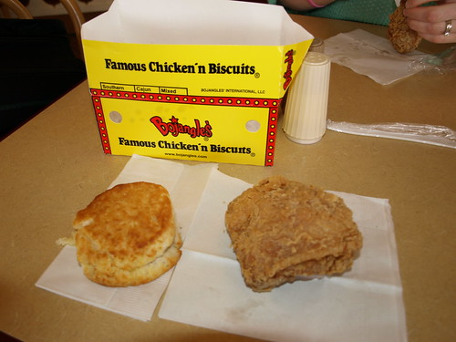 Bojangles biscuit and chicken