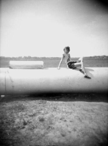 Girl on a tank