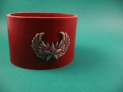 Leather Cuff - Winged Star