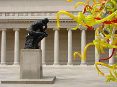 Tentacles of Thought (Don and Elaine) Tags: chihuly thought thinker explore rodin legionofhonor tentacles 139