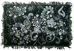 Silver symphony (Karen Cattoire) Tags: original blackandwhite abstract art handmade embroidery originalart creation fabric fiberart beading textileart tissu abstrait textiledart karencattoire fibretextile arttexilte