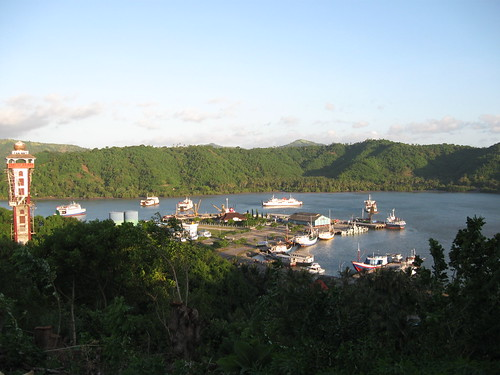 lembar harbour from the hill