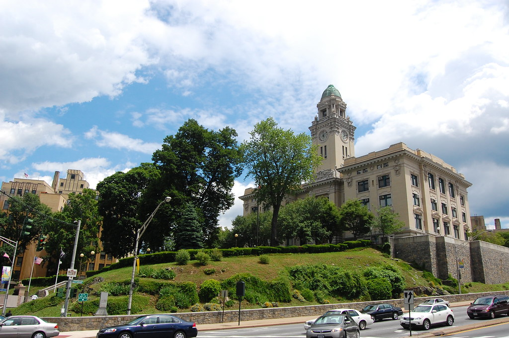 Yonkers City Hall sitting majestically on, what else, but a hill