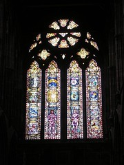 Adam and Eve stained glass, Glasgow Cathedral