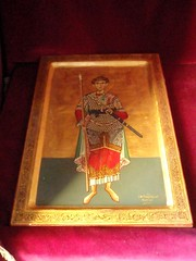 Byzantine image of some guy on a platterish looking thing (steven_and_haley_bach) Tags: byzantine mystras sixthday mistras greecevacation byzantineruins