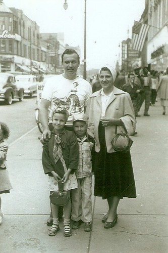 West Market Street, circa 1952, Bowser family. Warren, Ohio