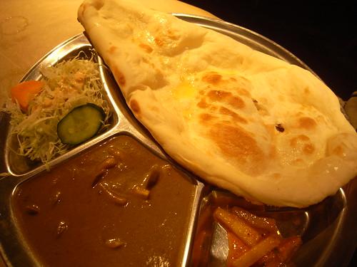 Sag Mushroom Curry Plate 20080707