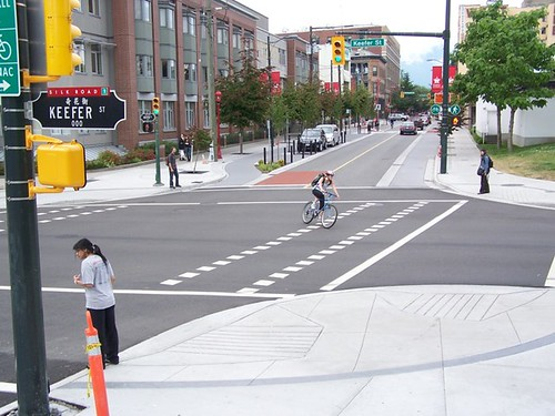 carrall st raised bike lane segment vcr