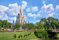 Disney - Cinderella Castle and Dragon Topiary