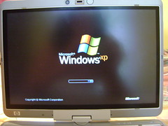 Compaq 2710p Windows xp Screen