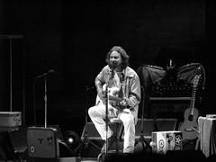 Eddie Vedder, NYC (riotonsunset) Tags: nyc summer bw rock concert solo eddievedder unitedpalacetheatre mickarieta