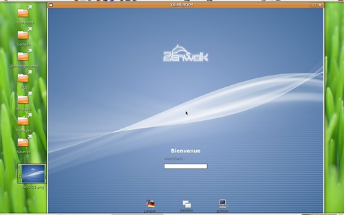 écran de connexion de la Zenwalk 5.2 gnome edition