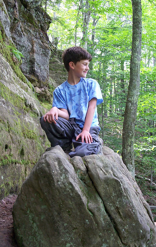 Ross on rock