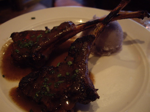 Lamb chops w/ purple potatoes @ Las Ramblas