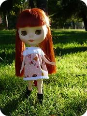 Daniela con su vestido nuevo
