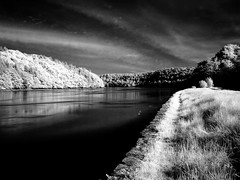 Blackwater River Infrared (Ed Guiry) Tags: ireland blackandwhite blackwhite nikon infrared blackwater youghal realireland templemichael nikond80 nikonblackandwhite edguiry hedirey nikond700 canong9 nikond300 youghalphotographer