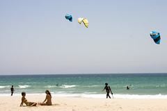 blue sea sky sun kite beach water canon eos spain bluesky kitesurfing kites tarifa 40d