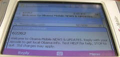 Barack Obama Text Message Marketing Screenshot 1