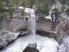 Fall Creek Falls in Winter (J. Stephen Conn) Tags: statepark winter ice waterfall tn tennessee fallcreekfalls vanburencounty