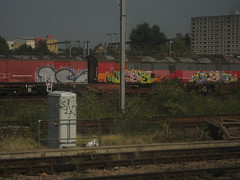 AE - Dorps - Dorps (Tatty Seaside Town) Tags: train graffiti graf royalmail scraps freight wembley avea dorps tattyseasidetown