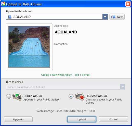 Picasa Web Uploader
