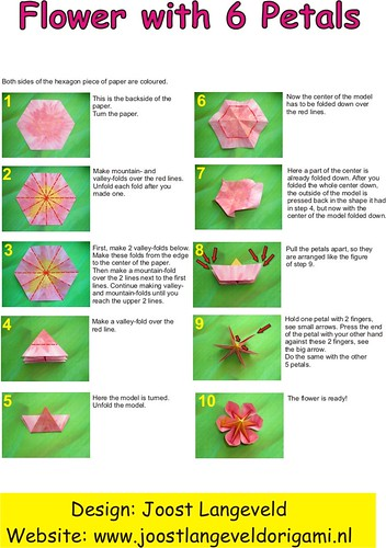 Origami flower diagrams a photo on flickriver origami flower diagrams mightylinksfo