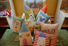 house-pillows-grouping (redshoesllc) Tags: house sewing crafts annarbor pillows fabric redshoes