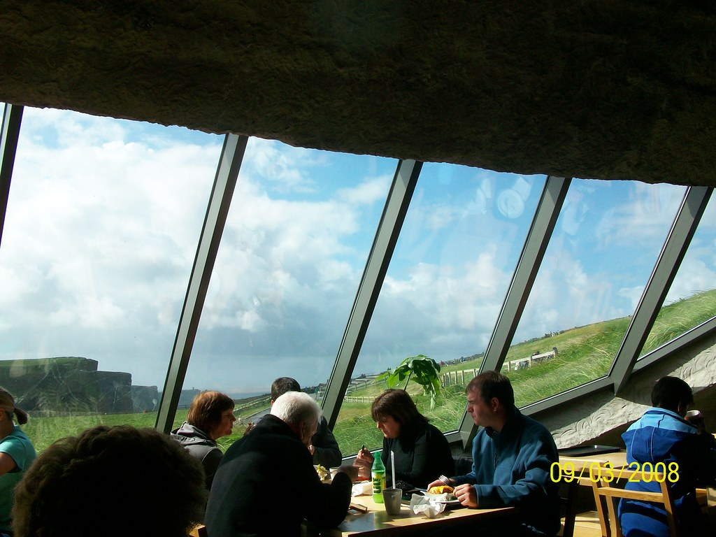 Ireland - Cliffs of Moher - looking out hillside window from restauraunt